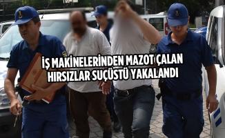 İş Makinelerinden Mazot Çalan Hırsızlar Suçüstü Yakalandı