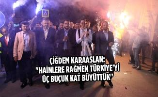 """Karaaslan: """"Hainlere Rağmen Türkiye'yi Üç Buçuk Kat Büyüttük"""""""
