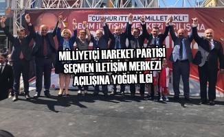 MHP Seçmen İletişim Merkezi Açılışına Yoğun İlgi