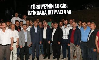 Yılmaz, Türkiye'nin Su Gibi İstikrara İhtiyacı Var