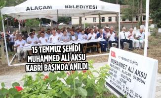 15 Temmuz Şehidi Muhammed Ali Aksu Kabri Başında Anıldı