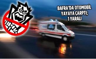 Bafra'da Otomobil Yayaya Çarptı; 1 Yaralı