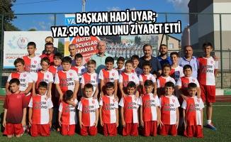 Başkan Hadi Uyar; Yaz Spor Okulunu Ziyaret Etti