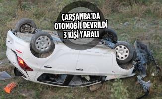 Çarşamba'da Otomobil Devrildi: 3 Yaralı