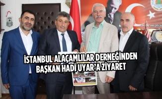 İstanbul Alaçamlılar Derneğinden Başkan Uyar'a Ziyaret
