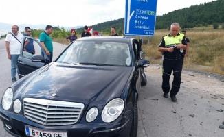Karabük'te iki otomobil çarpıştı: 1 ölü, 6 yaralı