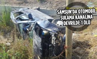 Alaçam'da Otomobil Sulama Kanalına Devrildi: 1 Ölü