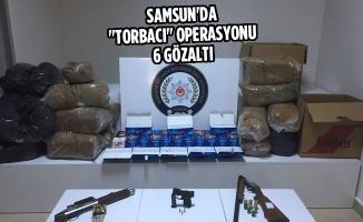 """Samsun'da """"Torbacı"""" Operasyonu: 6 Gözaltı"""