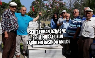 Şehit Erhan Özdaş Ve Murat Uzun Kabirleri Başında Anıldı
