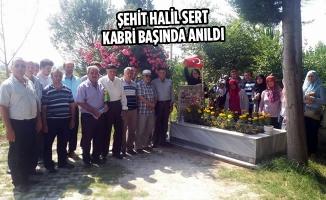 Şehit Halil Sert Kabri Başında Anıldı