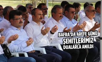 Bafra'da Arefe Günü Şehitlerimiz Dualarla Anıldı