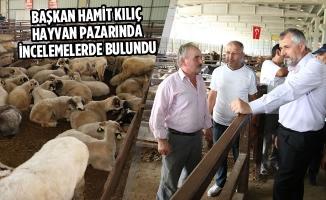 Başkan Kılıç Hayvan Pazarında İncelemelerde Bulundu