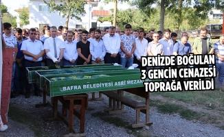 Denizde Boğulan 3 Gencin Cenazesi Toprağa Verildi