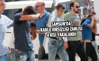 Samsun'da Kablo Hırsızlığı Zanlısı 4 Kişi Yakalandı