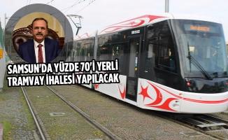 Samsun'da Yüzde 70'i Yerli Tramvay İhalesi Yapılacak