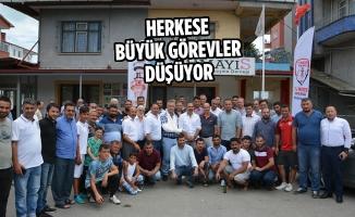 Samsunspor Heyeti 19 Mayıs İlçesinde