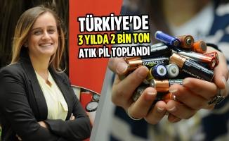 Türkiye'de 3 Yılda 2 Bin Ton Atık Pil Toplandı