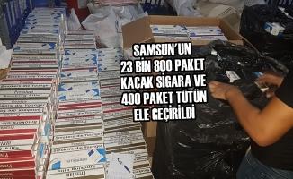 23 Bin 800 Paket Kaçak Sigara ve 400 Paket Tütün Yakalandı