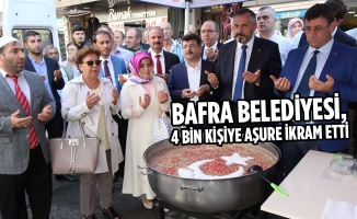 Bafra Belediyesi, 4 Bin Kişiye Aşure İkram Etti