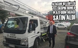 Alaçam Belediyesi Teleskopik Bomlu Platform Aracı Satın Aldı