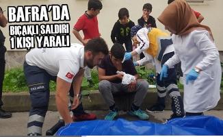 Bafra'da Bıçaklı Saldırı: 1 Yaralı