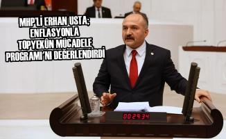 MHP'li Usta; Enflasyonla Topyekûn Mücadele Programı'nı Değerlendirdi