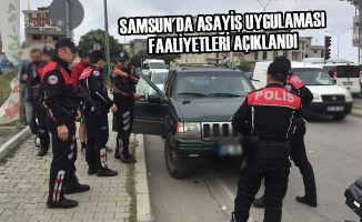 Samsun'da Asayiş Uygulaması Faaliyetleri Açıklandı