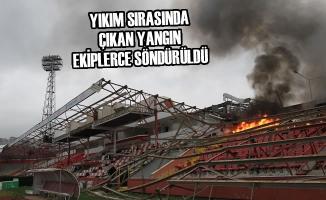Samsun'da Eski 19 Mayıs Stadyumu'nun Yıkımına Başlandı