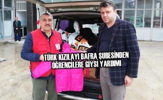 Türk Kızılayı Bafra Şubesinden Giysi Yardımı