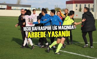 1930 Bafraspor Lig Maçında Arbede Yaşandı