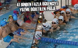 41 Binden Fazla Öğrenciye Yüzme Öğretilen Proje