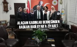 Alaçam Kadınlar Derneğinden Başkan Uyar'a Ziyaret
