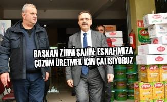 Başkan Zihni Şahin Gıda Borsası Esnafını Ziyaret Etti