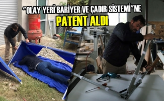 """""""Olay Yeri Bariyer Ve Çadır Sistemi""""ne Patent Aldı"""