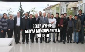 Recep Ayfer; Bafra Medya Mensupları ile Buluştu