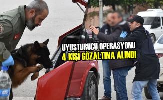 Samsun'da Uyuşturucu Operasyonu; 4 Gözaltı