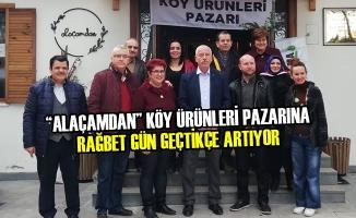 """""""Alaçamdan"""" Köy Ürünleri Pazarına Rağbet Gün Geçtikçe Artıyor"""