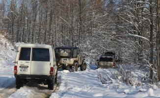 Almanya'dan gelen ihbar üzerine Bolu Dağı'nda başlatılan arama çalışması