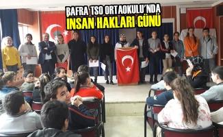 Bafra TSO Ortaokulu'nda İnsan Hakları Günü