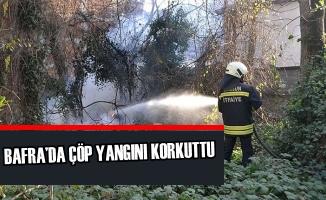 Bafra'da Çöp Yangını Korkuttu
