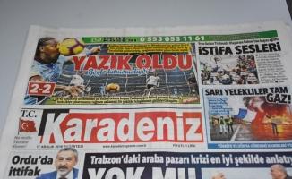 Trabzon yerel gazetelerinde beraberlik üzüntüsü