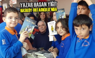 Yazar Hasan Yiğit Hasköy Ortaokulu'nda