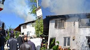 Alaçam'da Çıkan Yangın Korkuttu