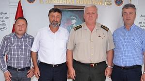 Başkan Topaloğlu'ndan İl Jandarma Komutanına Ziyaret