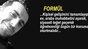 """Mehmet Alkan'ın Kaleminden """"FORMÜL"""""""