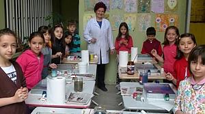 Minik Öğrenciler Ebru Sanatı İle Tanıştı