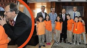 Minik Öğrencilerden Başkan Şahin'e Ziyaret