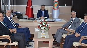 Samsun Defterdarı Eraslan'dan Başkan Topaloğlu'na Ziyaret