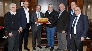 Samsunspor Yöneticilerinden Başkan Şahin'e Ziyaret
