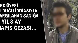 Terör Davasında Karar; 6 yıl 3 Ay Hapis Cezası